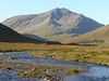 Ben Lui from the long approach along side the River Cononish