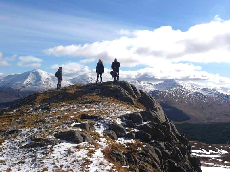 At the top of Fiarach with the Crianlarich hills behind