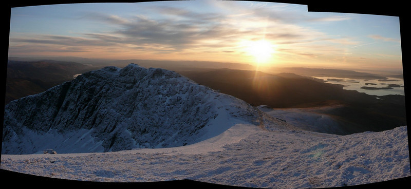 Early morning view from the top of Ben Lomond
