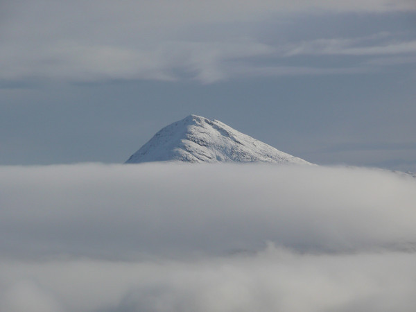 Ben Lomond through cloud inversion, from Beinn Narnain