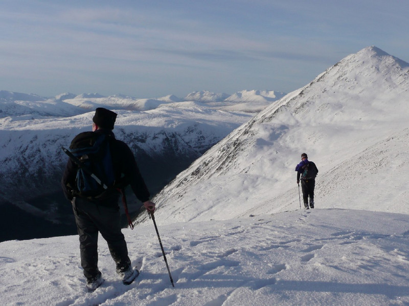 Jules and Alistair on Meallan nan Uan.