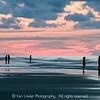 Dawn beachgoers