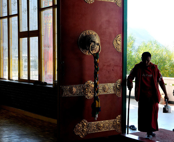 Entrance of Kaza monastery
