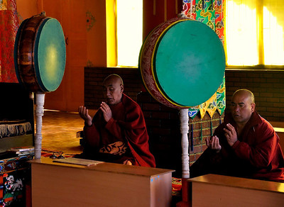Morning prayers at Kaza monastery