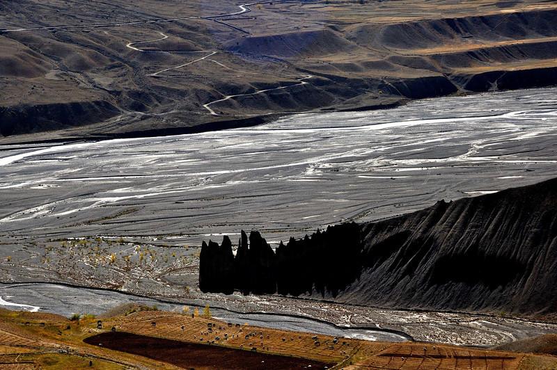 The Spiti valley below the Ki monastery
