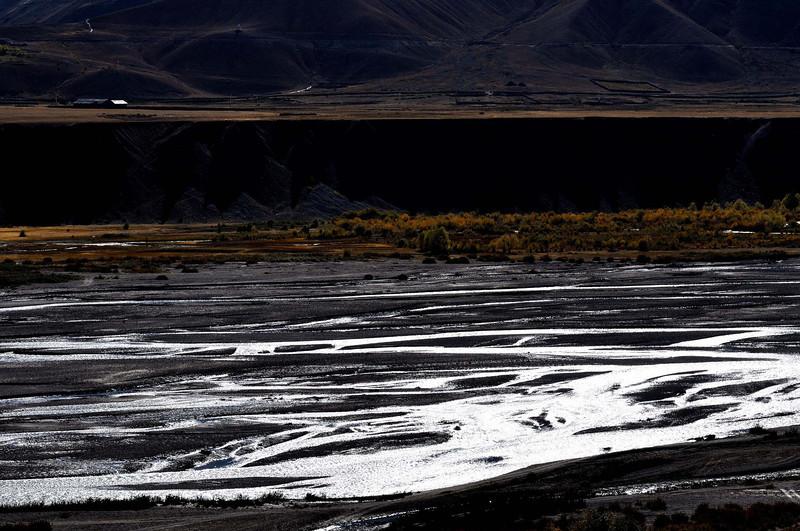 The Spiti river near Kaza