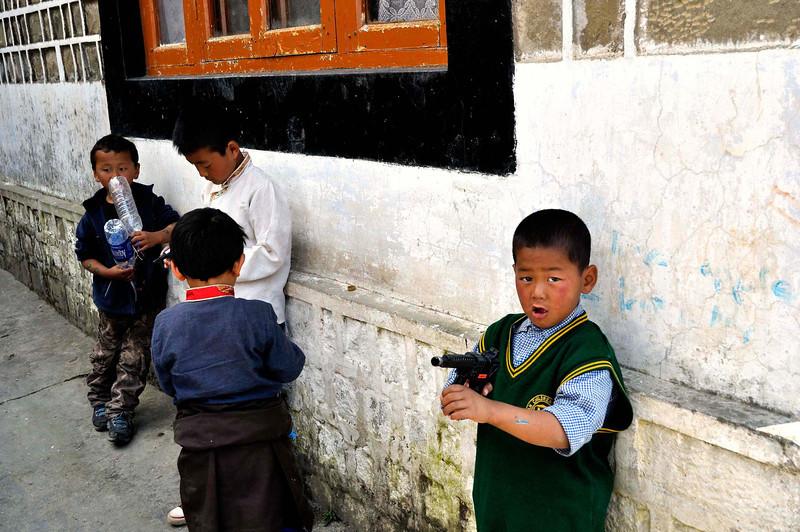 Students at the Tibetan school