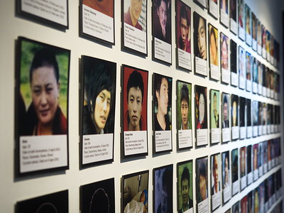 The Tibetan museum in Mcleod Ganj depicts the Chinese invasion in detail. The people pictured on this wall of photographs have all commited self-immolation in protest of the Chinese occupation of Tibet.
