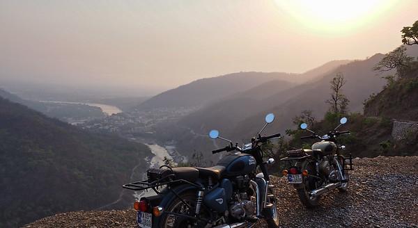 Overlooking Rishikesh.