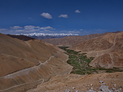 View from Chang La ascent; enroute from Karu to Pangong