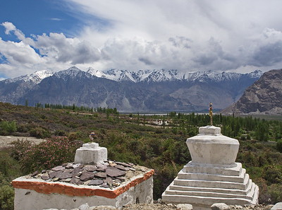 Stupas, Nubra Valley
