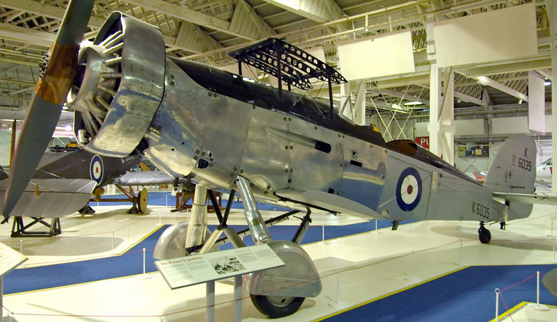 Westland Wallace II two seat general purpose K6035, RAF Museum, Hendon, 18 September 2007.   Two specially prepared Wallaces flew over the summit of Mount Everest in 1933, 20 years before the mountain was climbed.