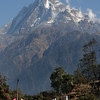 Fishtail mountain (Machapuchare)  6993m from near Chomrong