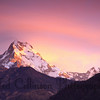 Annapurna South at dawn, with Hiun Chuli to the right.