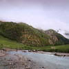 Crossing the feeder river to Phoksundo Lake