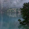 Gompa in the mist on Phoksundo Lake