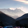 Tengboche morning with good views of Everest and Lhotse