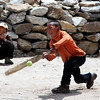 Boys playing Krikkit at Khumrung.