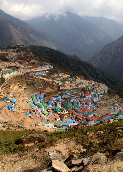 Looking down over Namche Bazar.