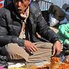 Chilli seller at Namche Bazar farmer's market
