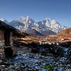 Yak herder's cottages above Pheriche (looking down towards Ama Dablam)