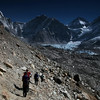 Dropping down to the glacier and then Everest Base Camp