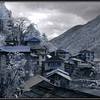 Lukla to Namche Bazar trail; Northern part of Phakding (looking South) taken in infra-red.
