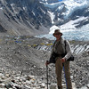 Near to EBC - the ridge behind me is the border with Tibet.