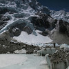 Crossing the Khumbu glacier to EBC with Nuptse behind (6073m the bit that you can see from here)