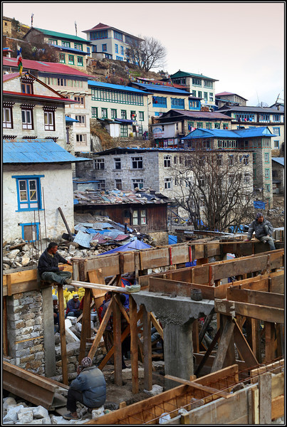Building site in Namche Bazar