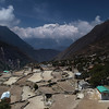 View from Panboche to Tengboche