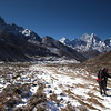 Looking back from the valley above Pheriche towards Ama Dablam