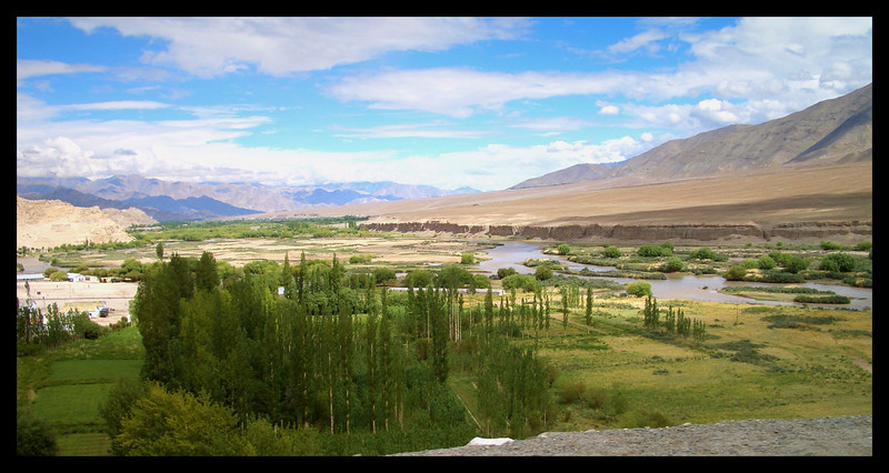 Looking from Spitok up the Indus valley towards Leh