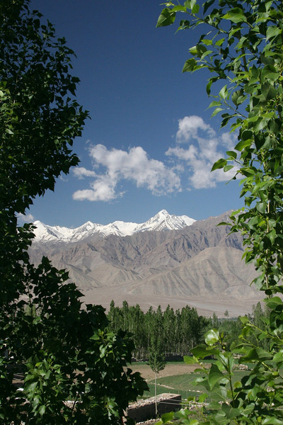 View towards the Stok range from Leh (the Indus river runs between the two)