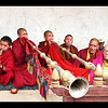 Phyang monastery  band wind section (note Pete Postlethwaite on the right!)