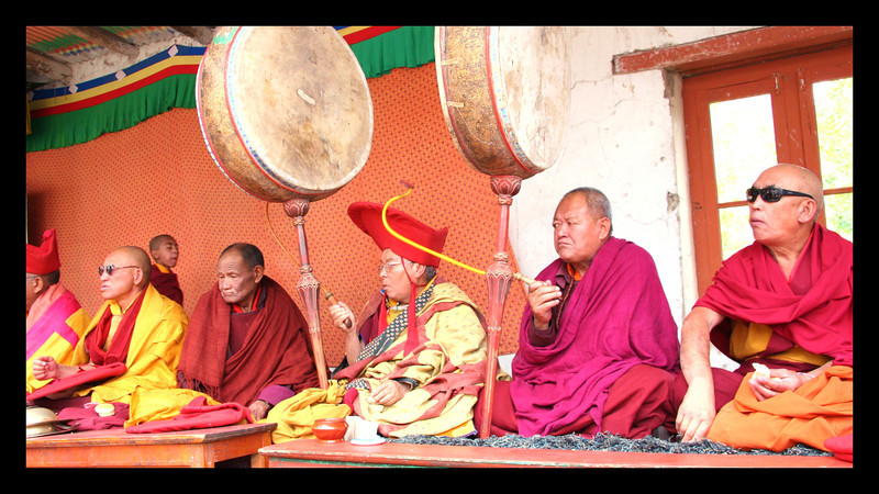 Phyang monastery  band drummers