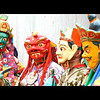 Phyang monastery; masked dancers