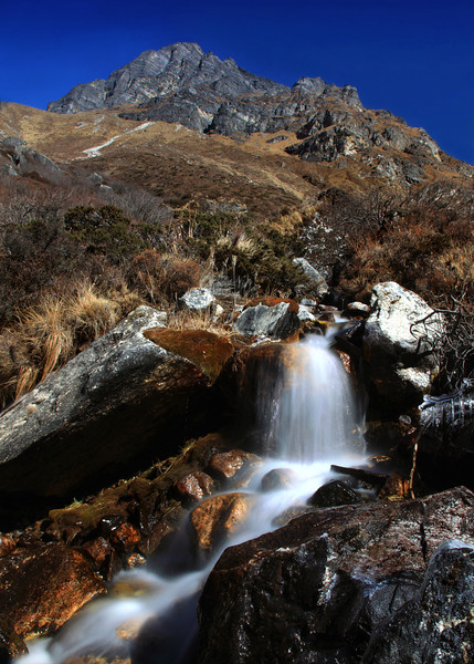 Stream high in the Lantang valley