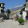 Jomsom man street; pretty much unchanged since my last visit but the coffee was much better.