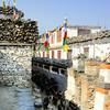 Goats and prayer wheels in Kagbeni