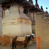 Lo Manthang streets are pretty tight; here there was a series of 3 huge chortens.