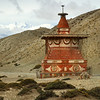Chorten on the road between Charang and Lo Manthang