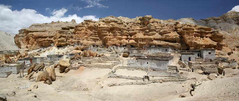 Panorama of Chosur village caves