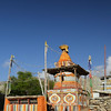 Chorten and prayer wheels at Geiling.