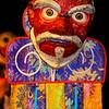 Mask inside the monastery gompa