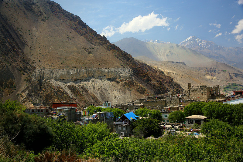 Looking out over Kagbeni towards Mustang