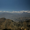 Looking east from near Yamda La. The mountains are a cross section of the Himalayas.