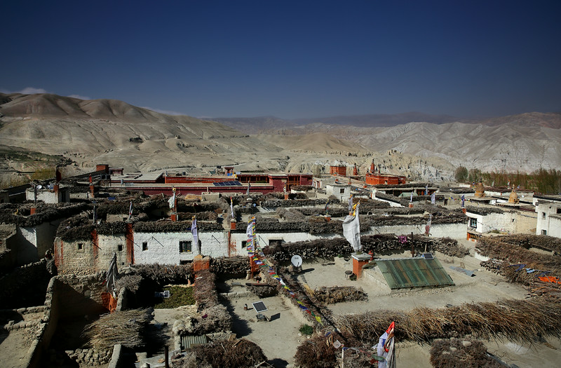 Lo Manthang roof tops.Spot the modern accoutrements !