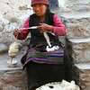 Yak wool being spun