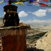 Gompa roof top looking towards Lo Manthang